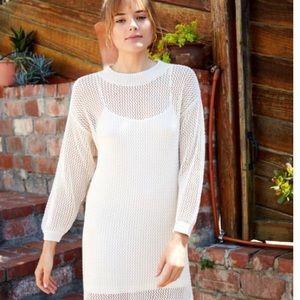 Anthropologie Hole knit dress Xs crewneck wedding